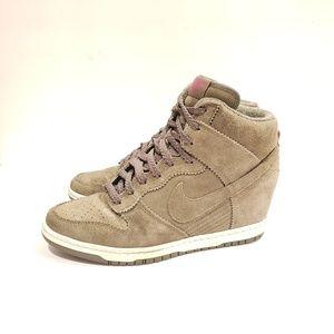 Nike Dunk Sky Hi Sneaker Wedge Medium Olive Total